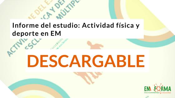 Informe del estudio actividad física y deporte en Esclerosis Múltiple                                        4.33/5(3)