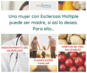 Nutrición antes, durante y después del embarazo con Esclerosis Múltiple